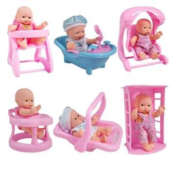 عروسک نوزاد بسته 6 عددی مدل Happy Love