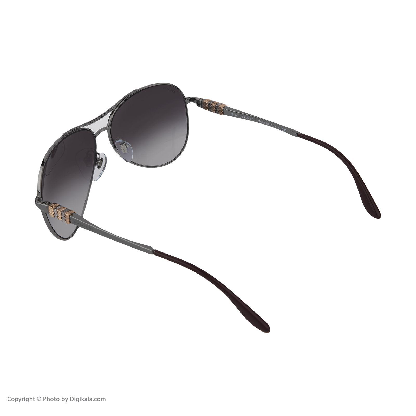 عینک آفتابی زنانه بولگاری مدل BV6075S 01038G -  - 5