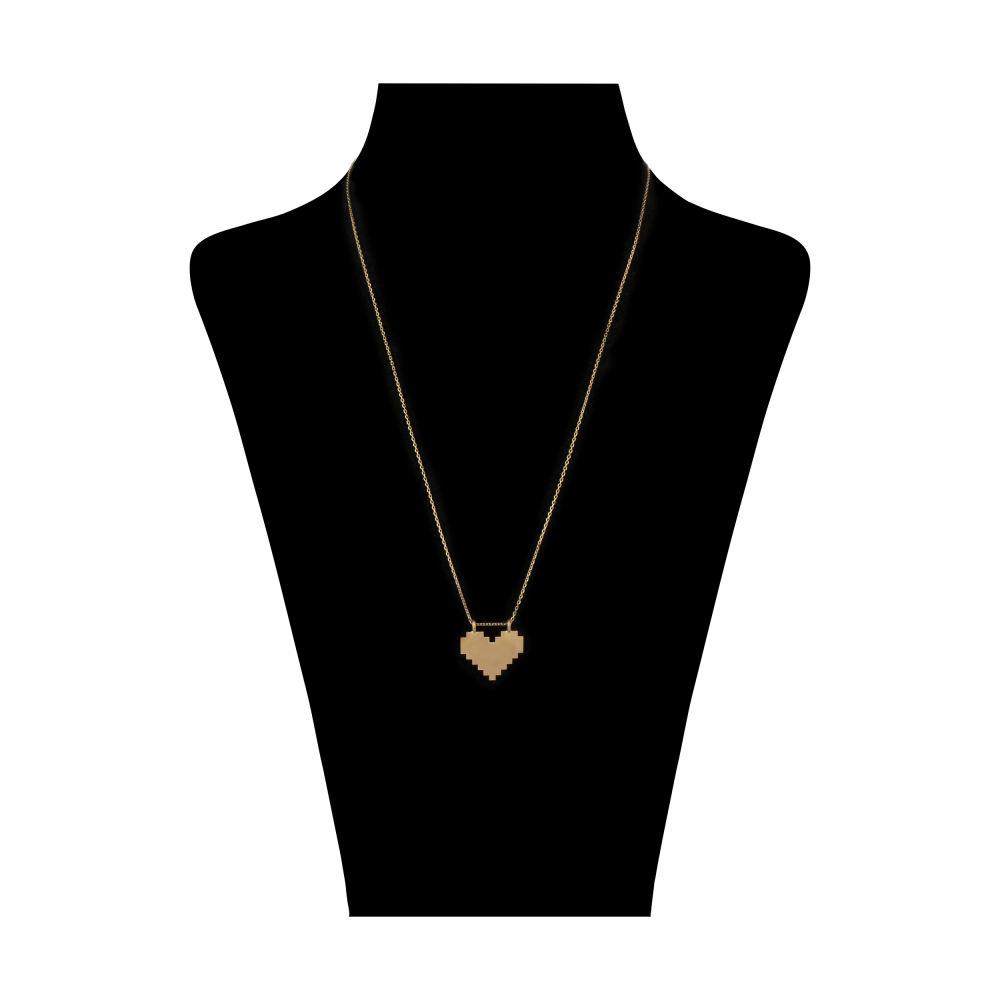 گردنبند طلا 18 عیار زنانه سنجاق مدل X083679