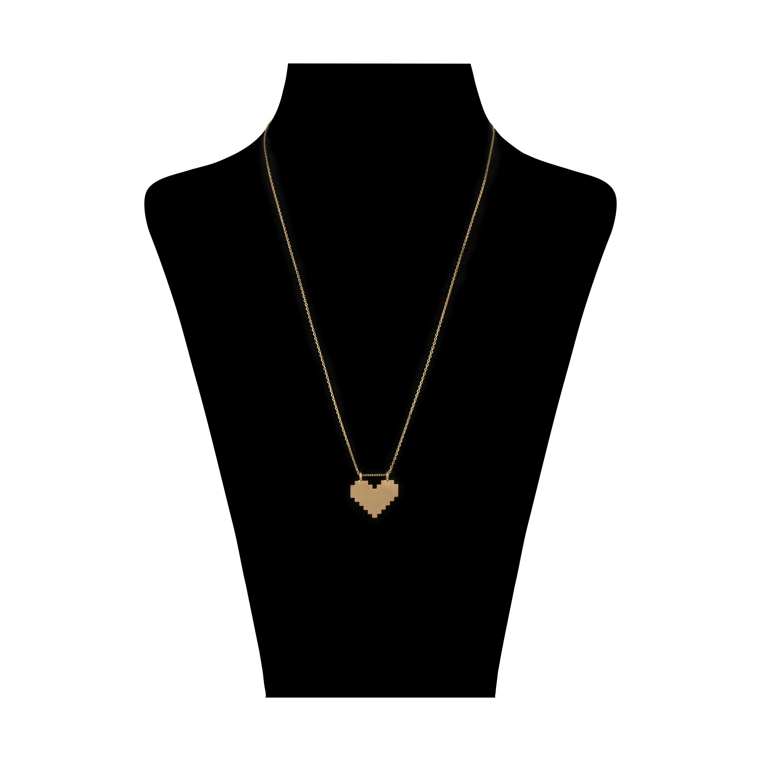 گردنبند طلا 18 عیار زنانه سنجاق مدل X083679 -  - 1