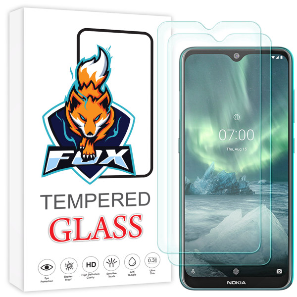 محافظ صفحه نمایش فوکس مدل PR001 مناسب برای گوشی موبایل نوکیا 7.2 بسته دو عددی