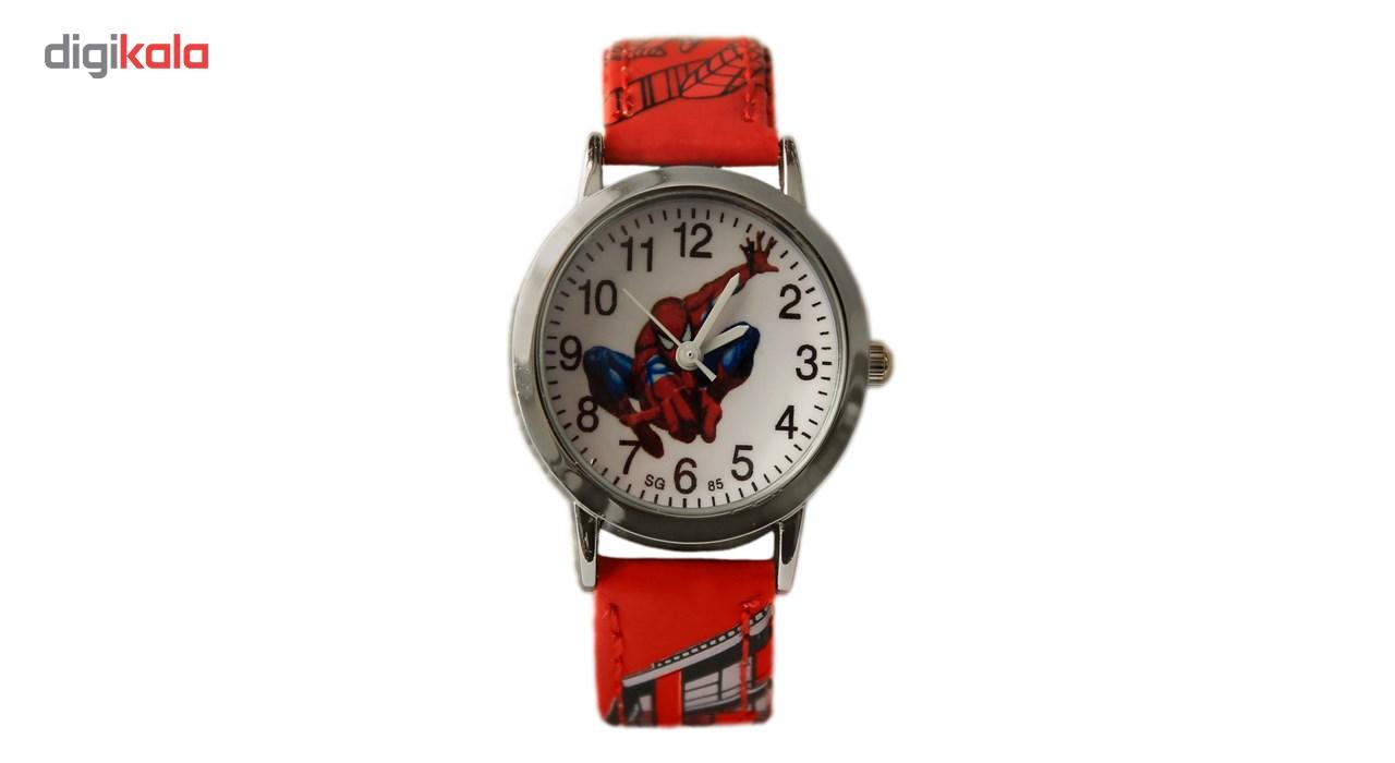 ساعت مچی عقربه ای بچگانه مدل SpiderMan