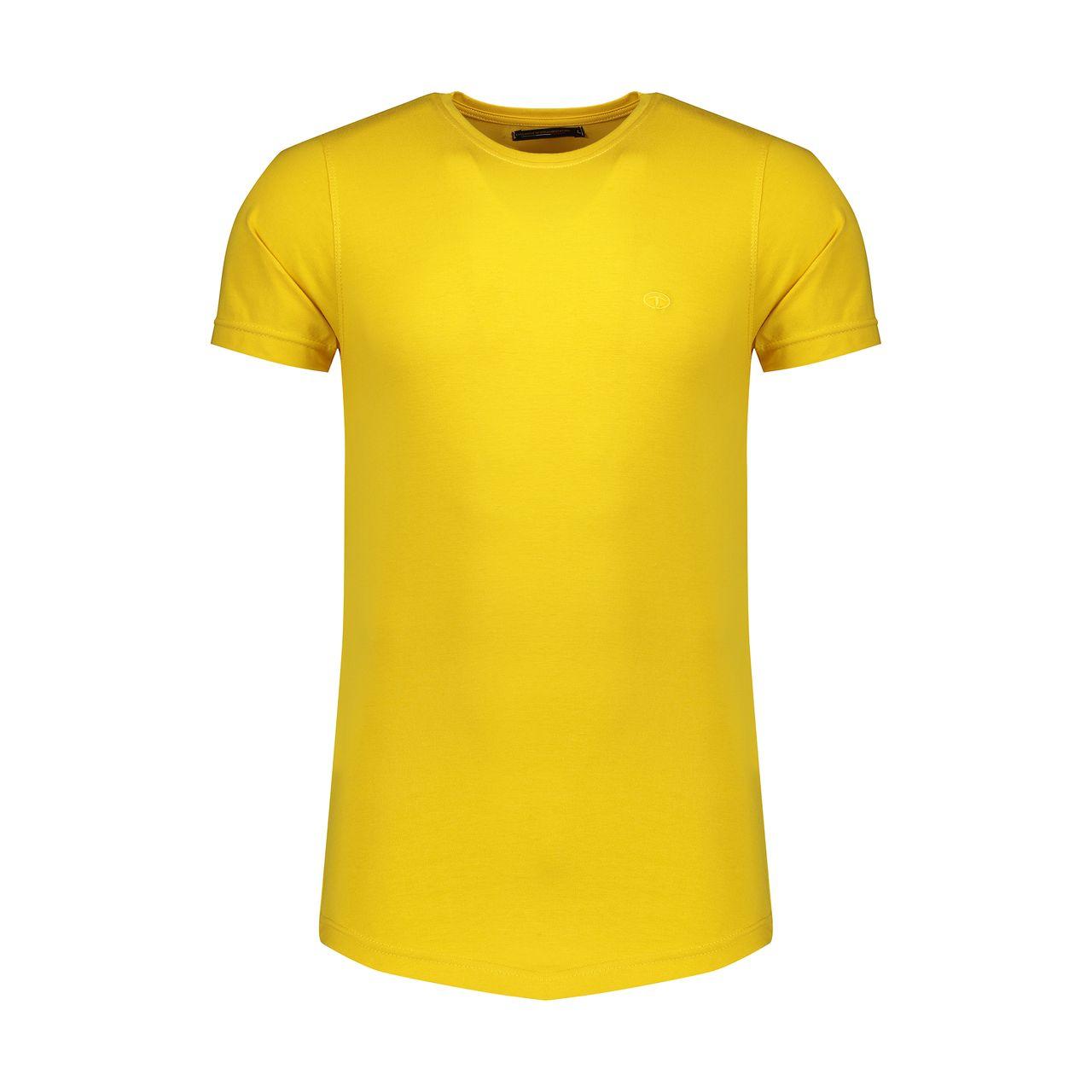 تیشرت آستین کوتاه مردانه مدل Mt-04 رنگ زرد                     غیر اصل