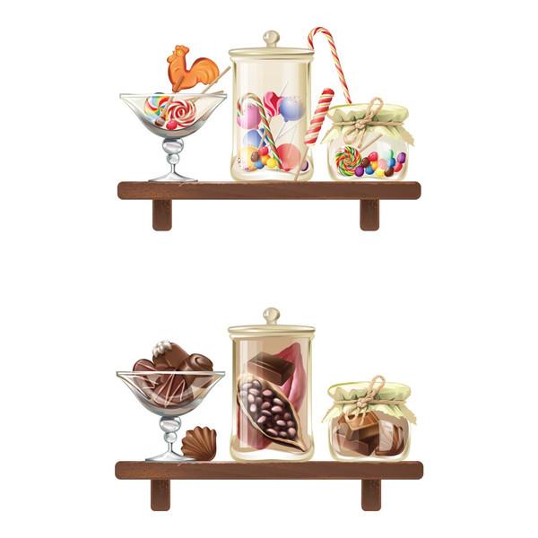 استیکر سالسو طرح شلف شکلاتی