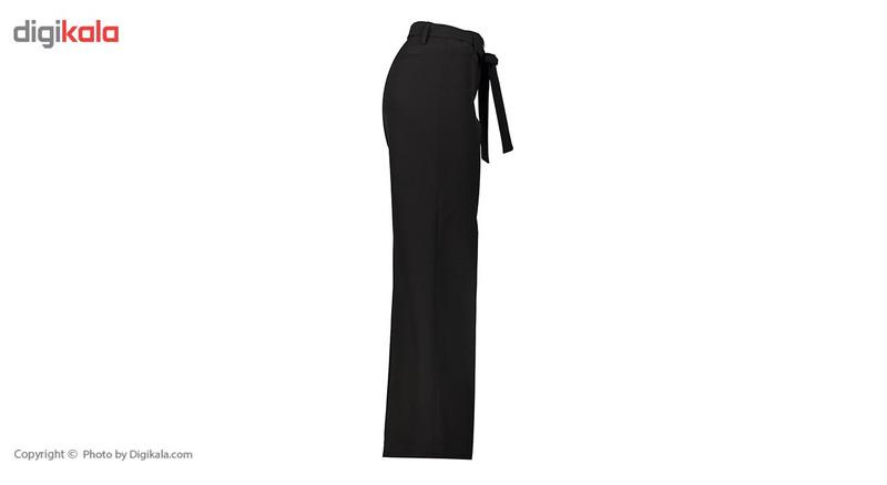 شلوار زنانه دمپا گشاد پارچه ای مشکی مدل 206