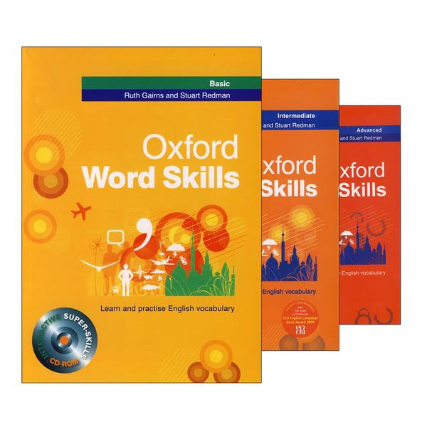 کتاب Oxford Word Skills اثر Ruth Gairns and Stuart Redman انتشارات هدف نوین 3 جلدی