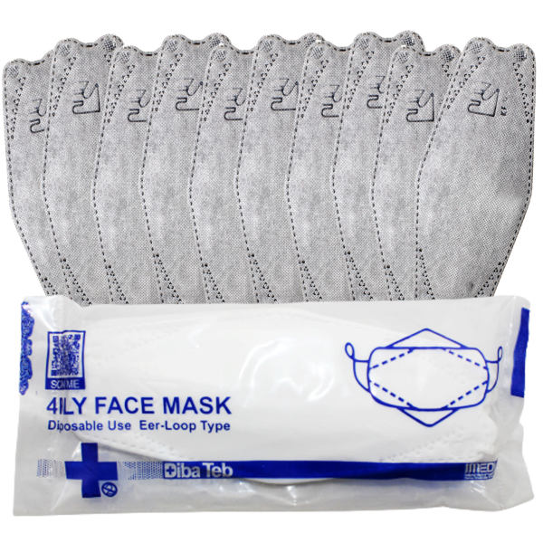 ماسک تنفسی دیباطب مدل 3d بسته 10 عددی