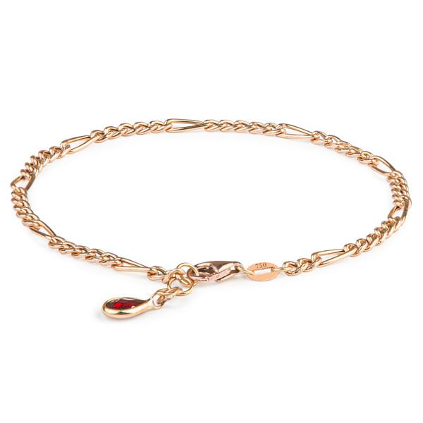 دستبند طلا 18 عیار زنانه ریسه گالری مدل 1311