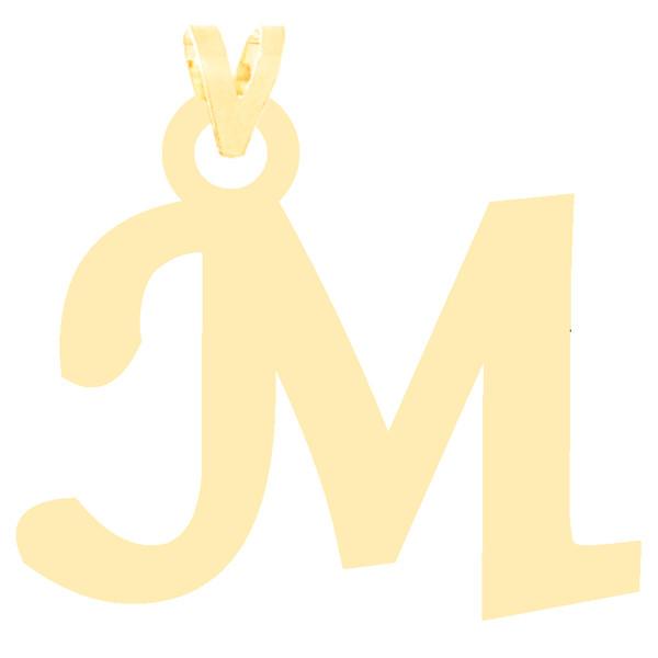 آویز گردنبند طلا 18 عیار زنانه کرابو طرح حرف M مدل Kr3632