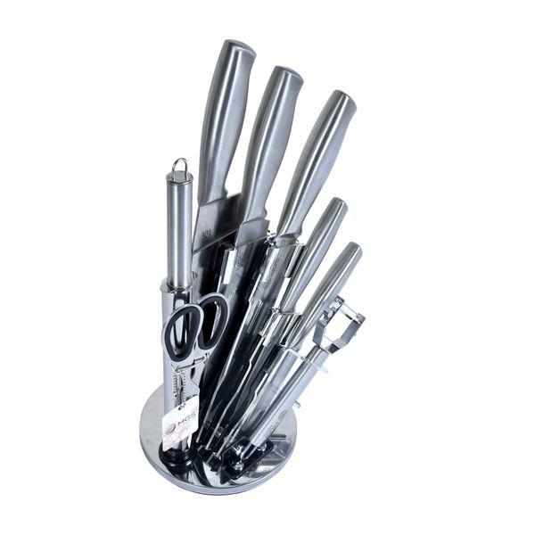 سرویس چاقو آشپزخانه 9 پارچه ام جی اس مدل KS-9012
