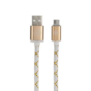 کابل تبدیل USB به microUSB اچ اند ام مدل C01 طول 1 متر