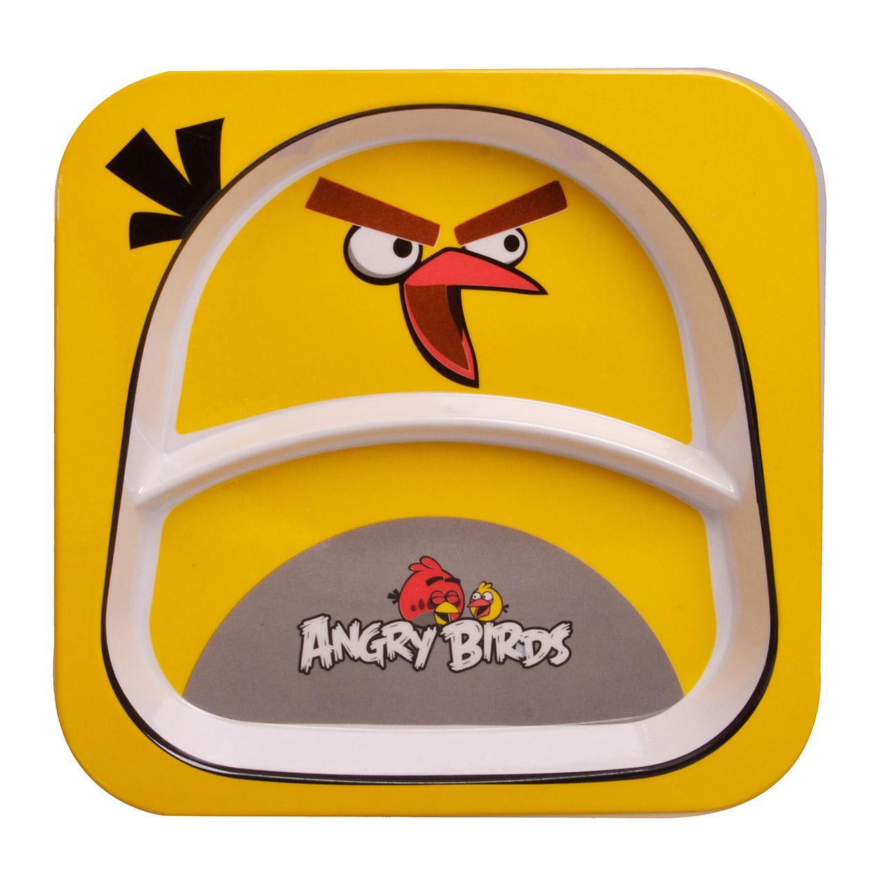 بشقاب کودک مهروز مدل ANGRY BIRDSکد 5080
