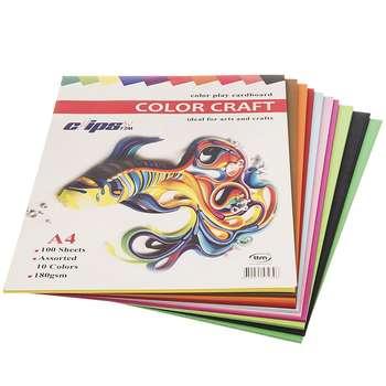 مقوای طراحی کلیپس مدل Color Craft سایز A4 - بسته 100 عددی