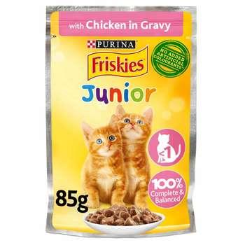 غذای پوچ گربه فریس کیز مدل chicken in gravy وزن 85 گرم