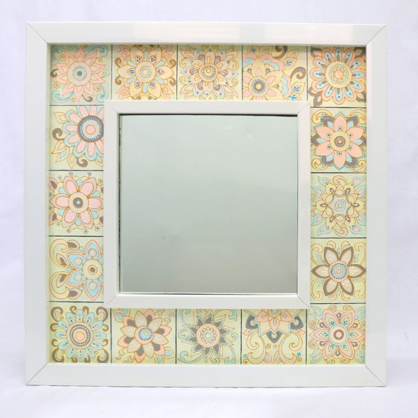 آینه ویترای گالری انار طرح گل کد03