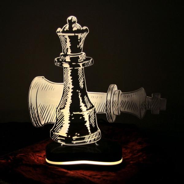 چراغ خواب سه بعدی گالری دکوماس طرح شطرنج کد DMS109