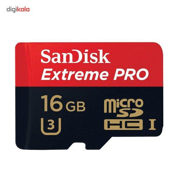 کارت حافظه microSDHC سن دیسک مدل Extreme Pro کلاس 10 استاندارد UHS-I U3 سرعت 633X 95MBps همراه با آداپتور SD ظرفیت 16 گیگابایت main 1 3