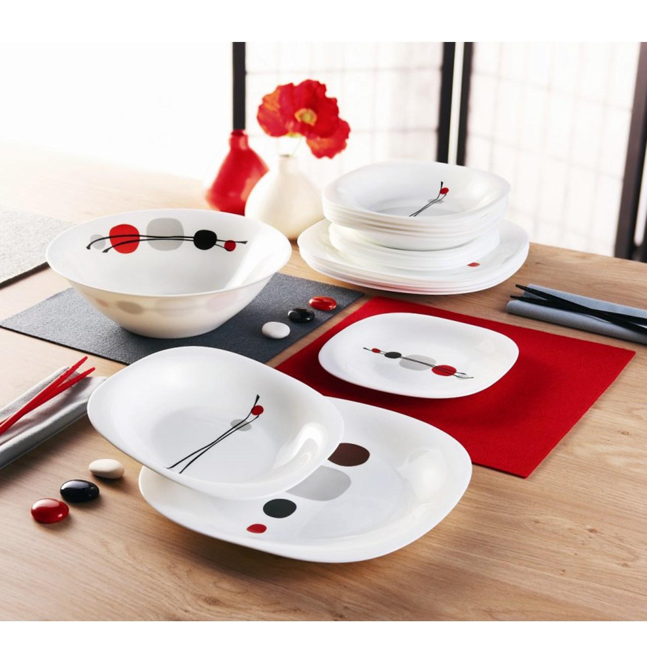 سرویس غذاخوری 19 پارچه لومینارک طرح Kyoko