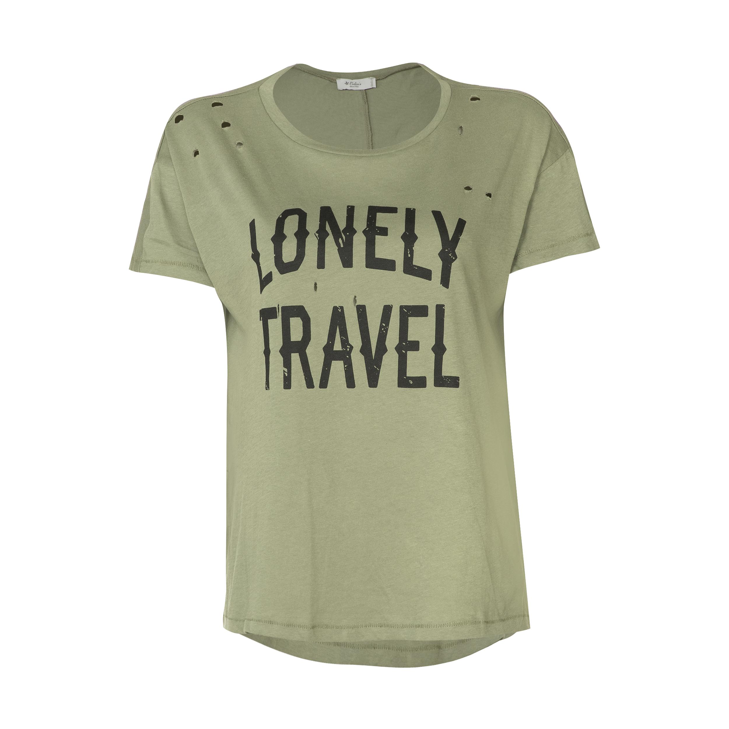 تی شرت زنانه کالینز مدل CL1032907-KHAKI