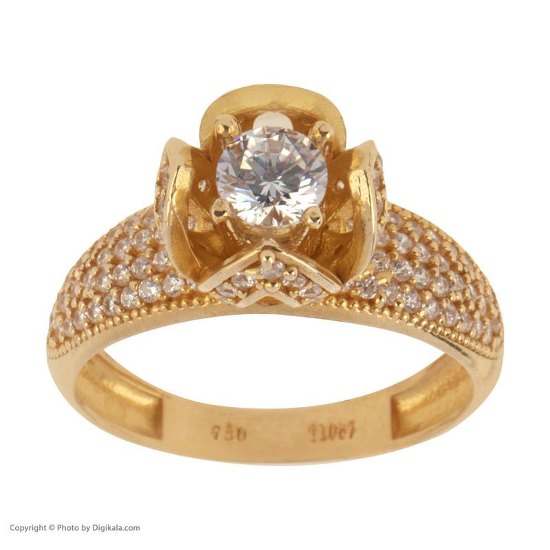 انگشتر طلا 18 عیار زنانه کانیار گالری کد AN5