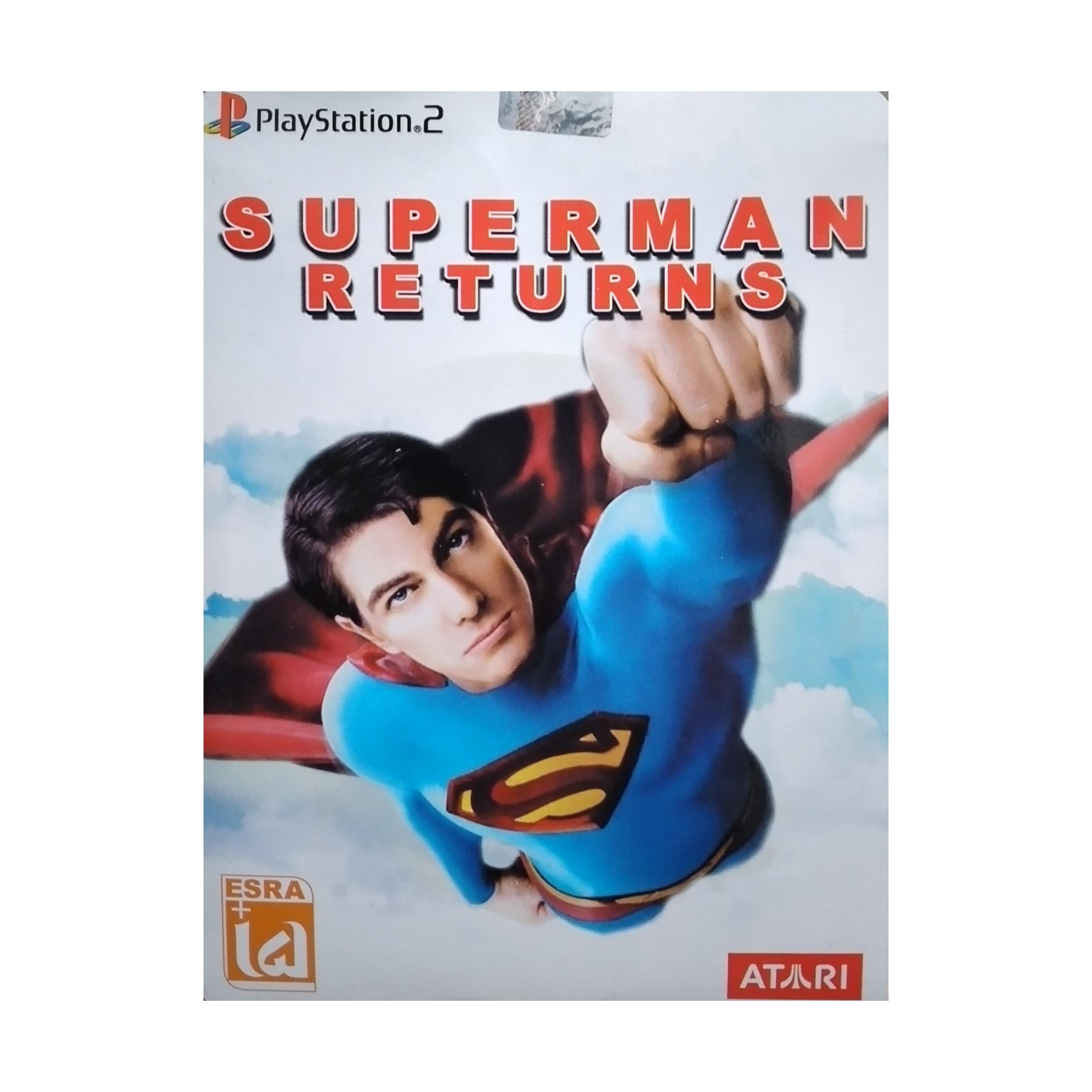 بازی SUPERMAN RETURNS مخصوص PS2 نشر لوح زرین