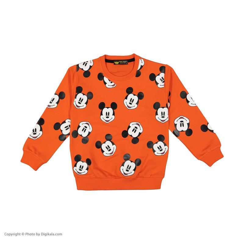 ست سویشرت و شلوار پسرانه خرس کوچولو مدل 2011144-26