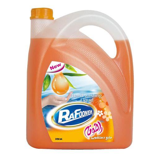 مایع دستشویی لیتری نارنجی رافونه حجم 3750 میلی لیتر
