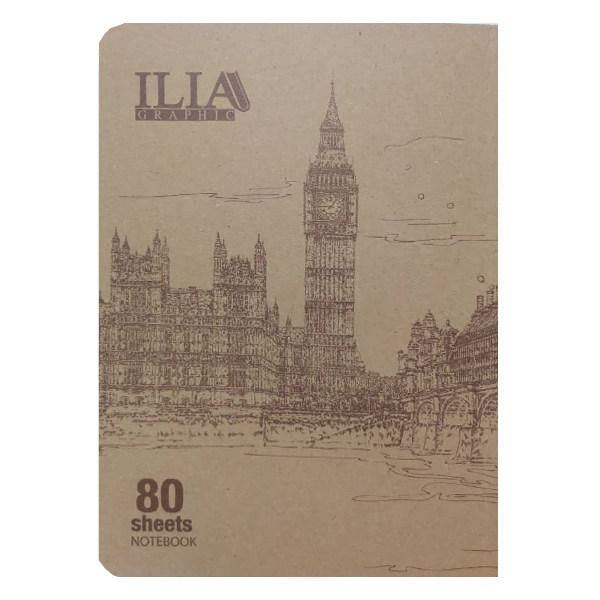دفتر نقاشی 80 برگ ایلیا گرافیک کد 806n