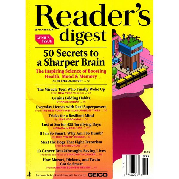 مجله ریدرز دایجست - سپتامبر 2016