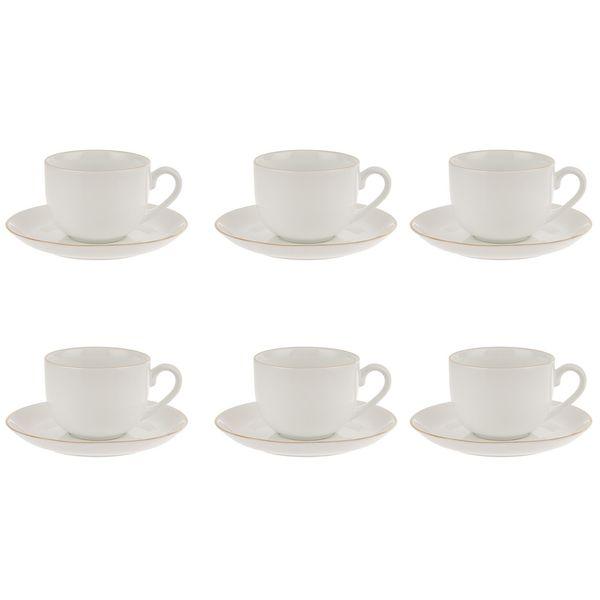 سرویس چای خوری 12 پارچه چینی زرین ایران سری ایتالیا اف مدل Zarin درجه عالی