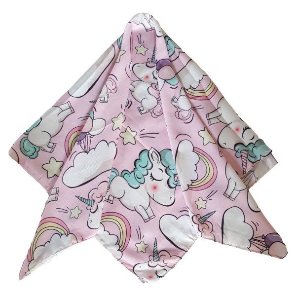 روسری دخترانه مدل اسب تک شاخ کد san925