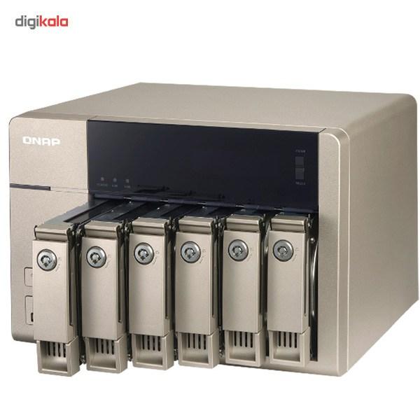 ذخیره ساز تحت شبکه کیونپ مدل TVS-663-8G بدون هارددیسک