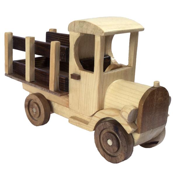 اسباب بازی چوبی مدل کامیون کلاسیک دست ساز NTC1