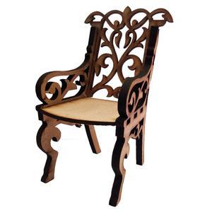استند تزئینی مدل صندلی چوبی