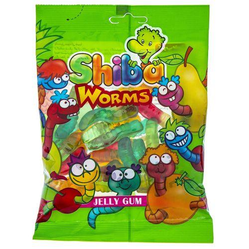 پاستیل میوه ای شیبا مدل  Worms مقدار 180 گرم