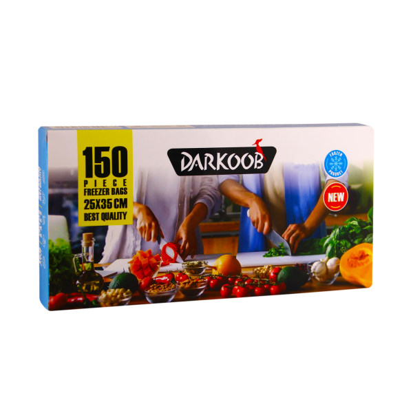 کیسه فریزر دارکوب مدل 01 بسته 150 عددی