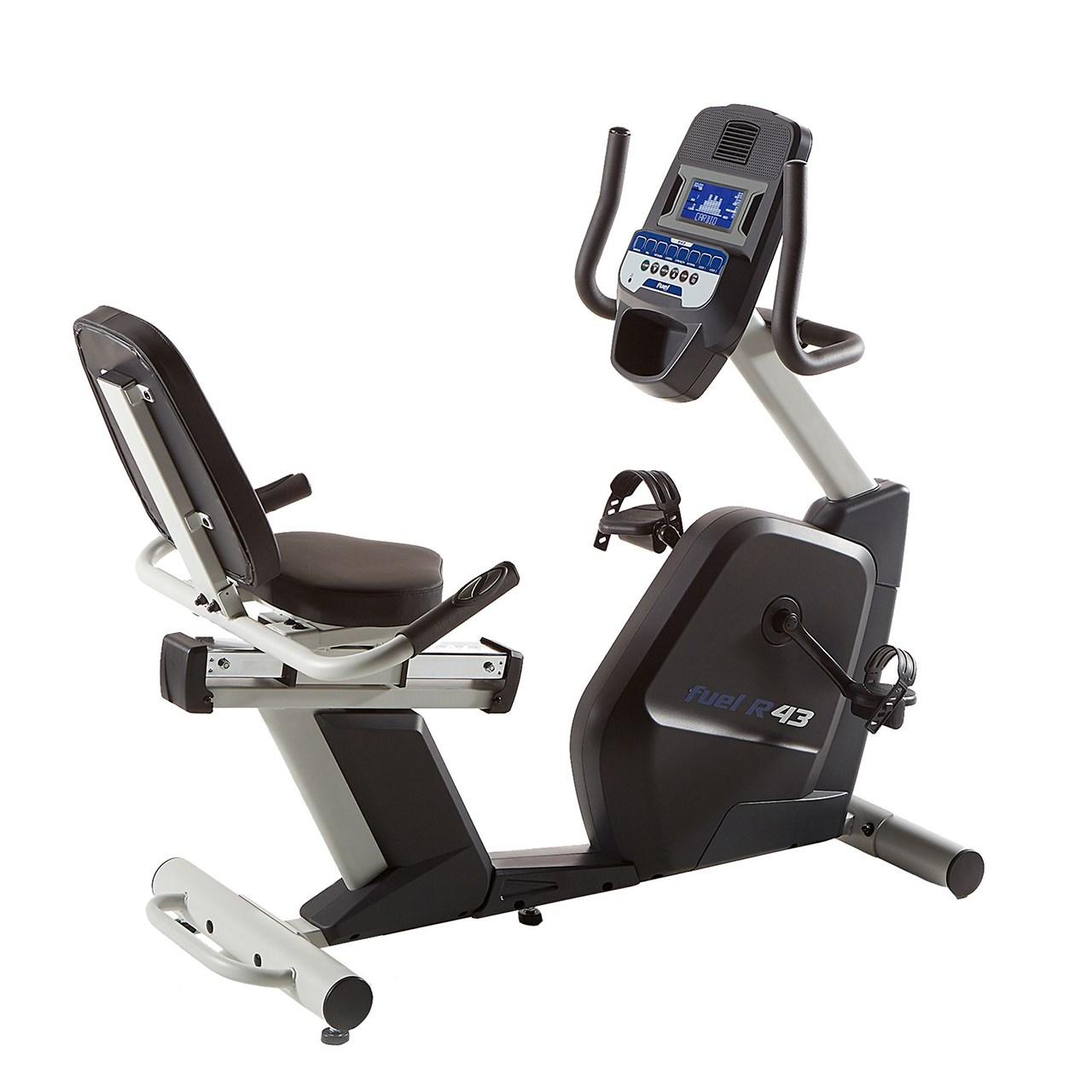دوچرخه ثابت حرفه ای خانگی پشتی دار ؛ مگنت برقی و برنامه دار ؛ فیول مدل R43