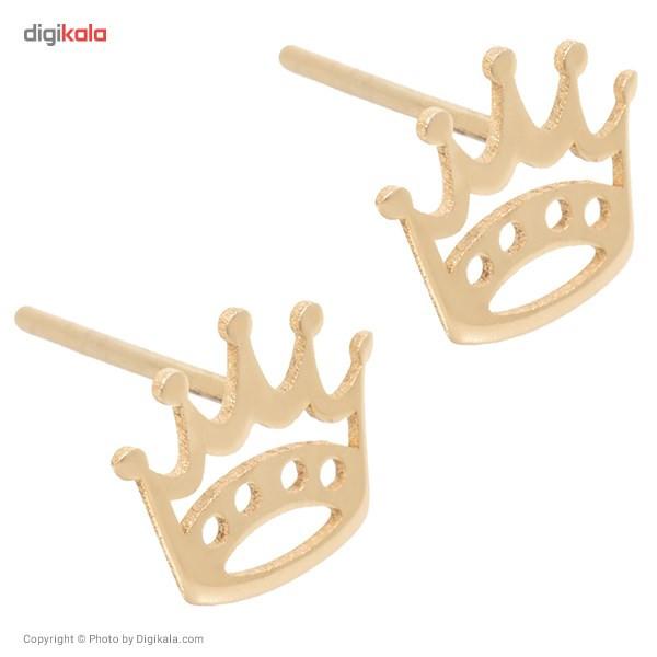 گوشواره طلا 18 عیار رزا مدل EG09