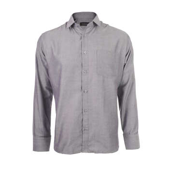 پیراهن آستین بلند مردانه ناوالس مدل Pk3-8020-GY