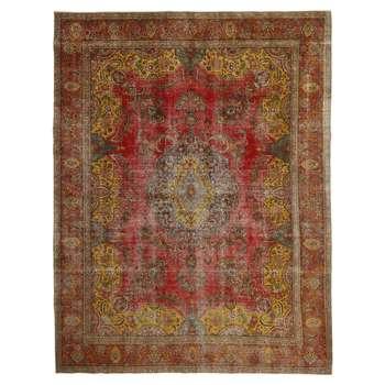 فرش دستبافت رنگ شده دوازده متری طرح وینتیج کد 535681