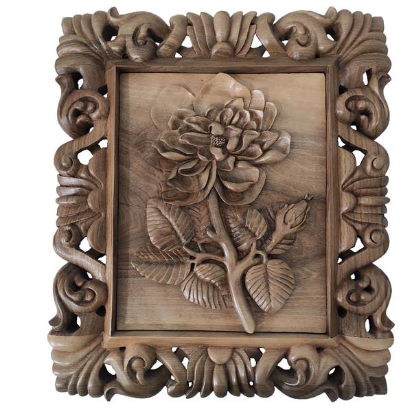 تابلو منبت کاری مدل گل رز