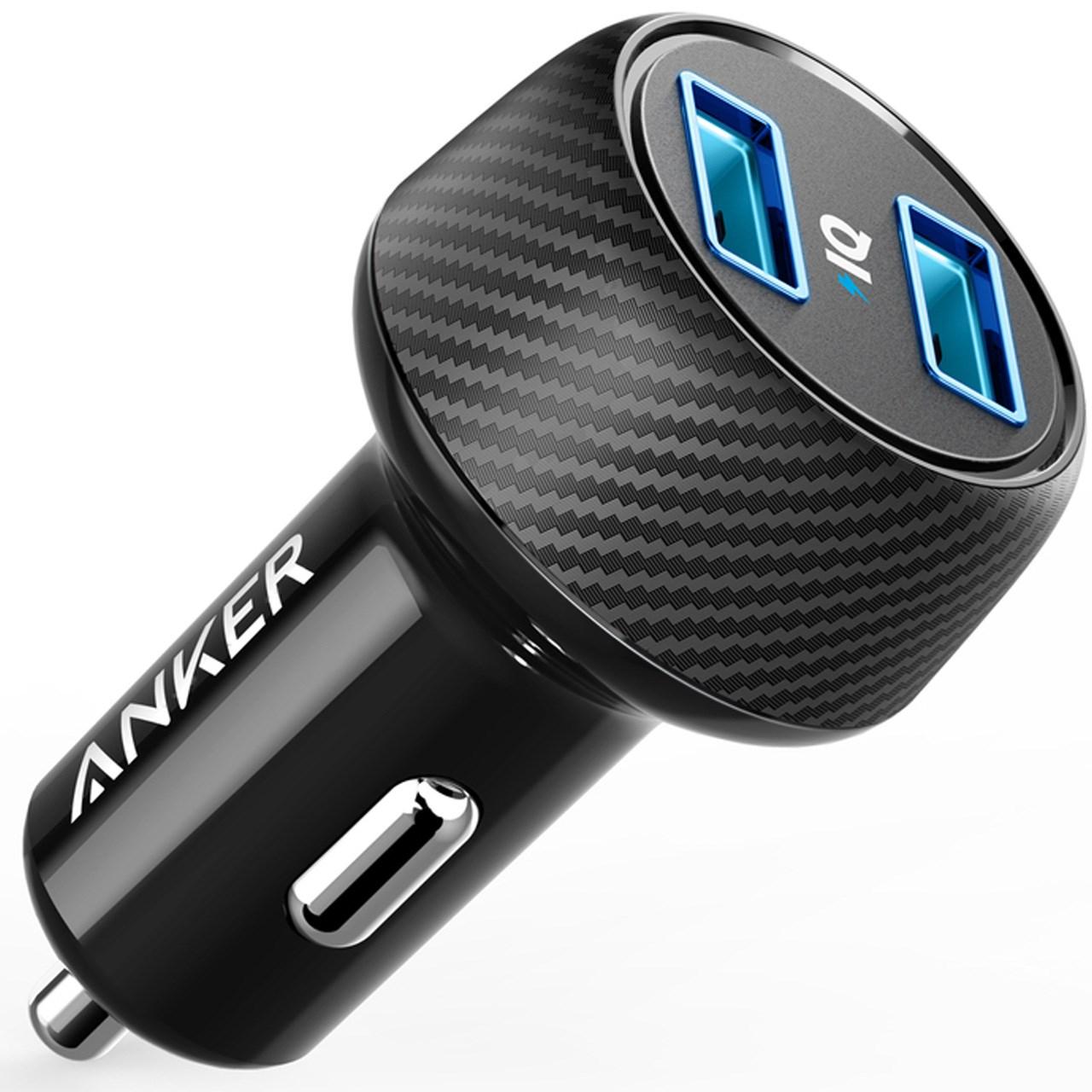 شارژر فندکی انکر مدل A2212 PowerDrive Elite 2 Ports              ( قیمت و خرید)