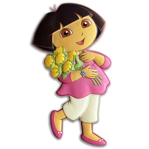 استیکر شبرنگ 1 تکه دکوفان مدل Dora