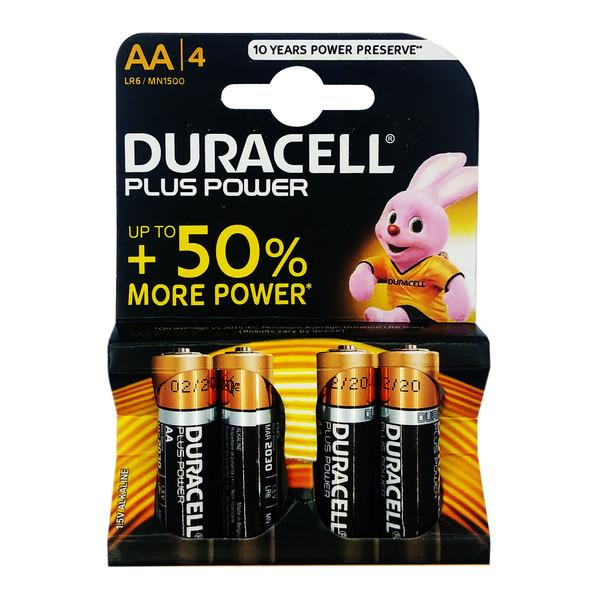 باتری قلمی دوراسل مدل PlusPower-LR6 بسته 4 عددی