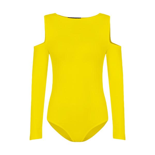 بادی آستین بلند زنانه افراتین کد 9535 رنگ زرد