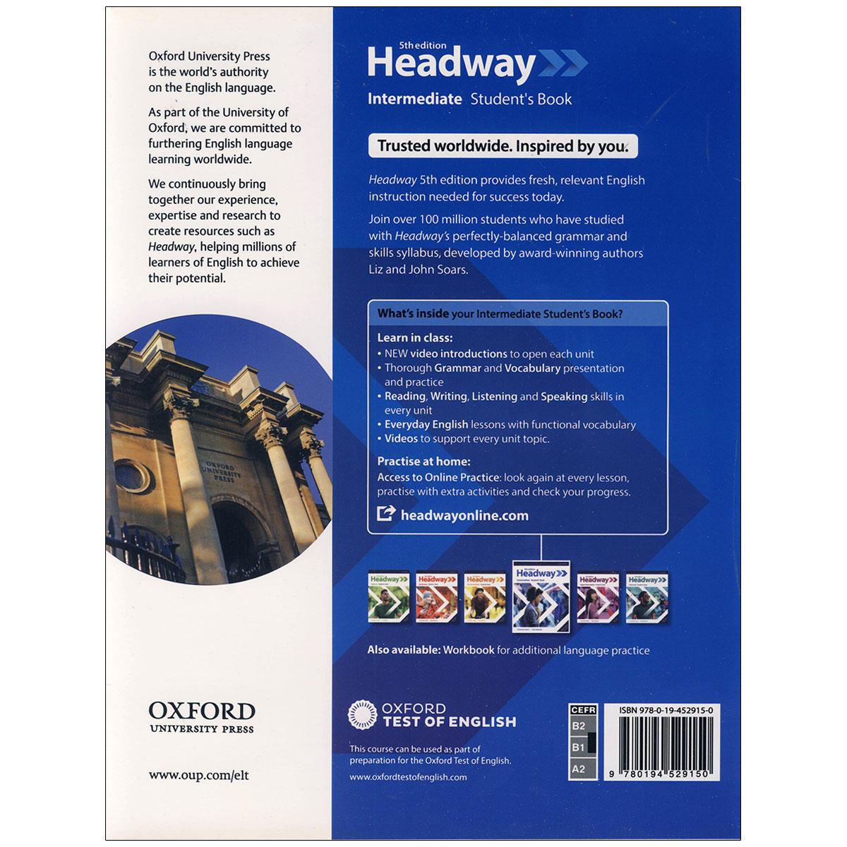 کتاب  headway intermediate 5th edition اثر john and liz soars and Paul Hancock انتشارات آکسفورد thumb 2 1