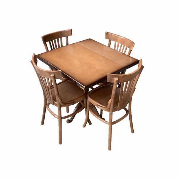 میز و صندلی ناهارخوری 4 نفره اسپرسان چوب مدل sm89
