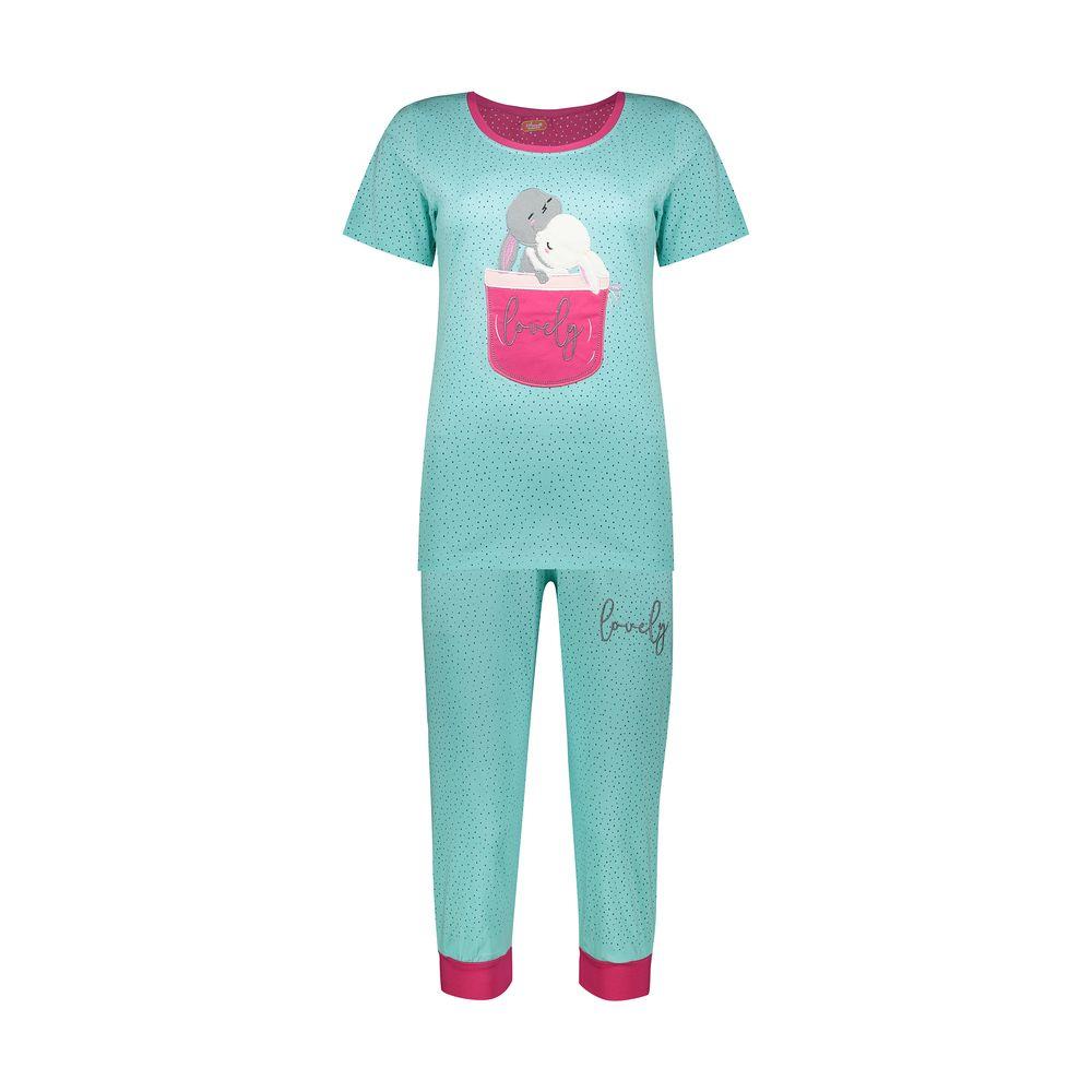ست تی شرت و شلوارک راحتی زنانه مادر مدل 2041102-54