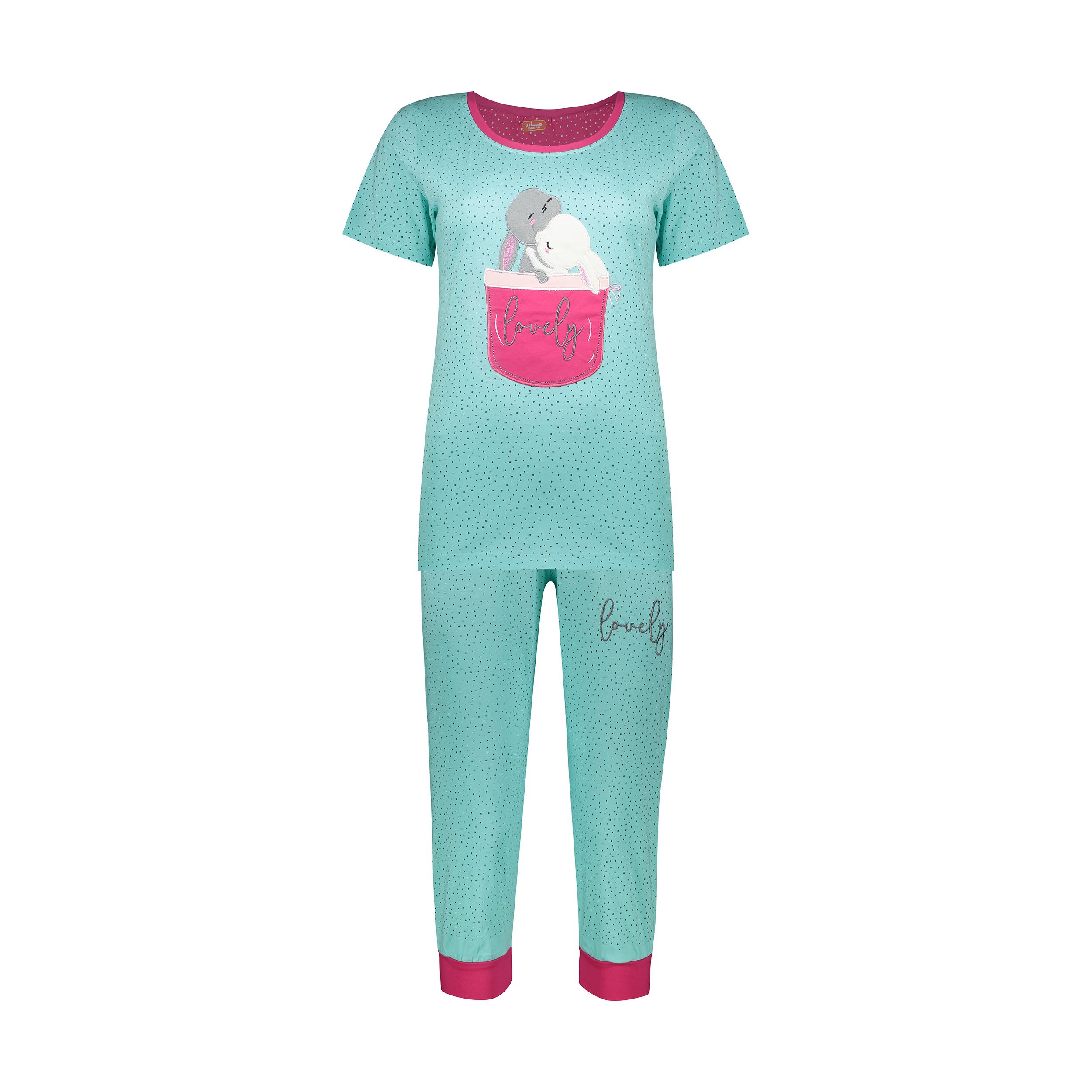 ست تی شرت و شلوارک راحتی زنانه مادر مدل 2041102-54 -  - 2