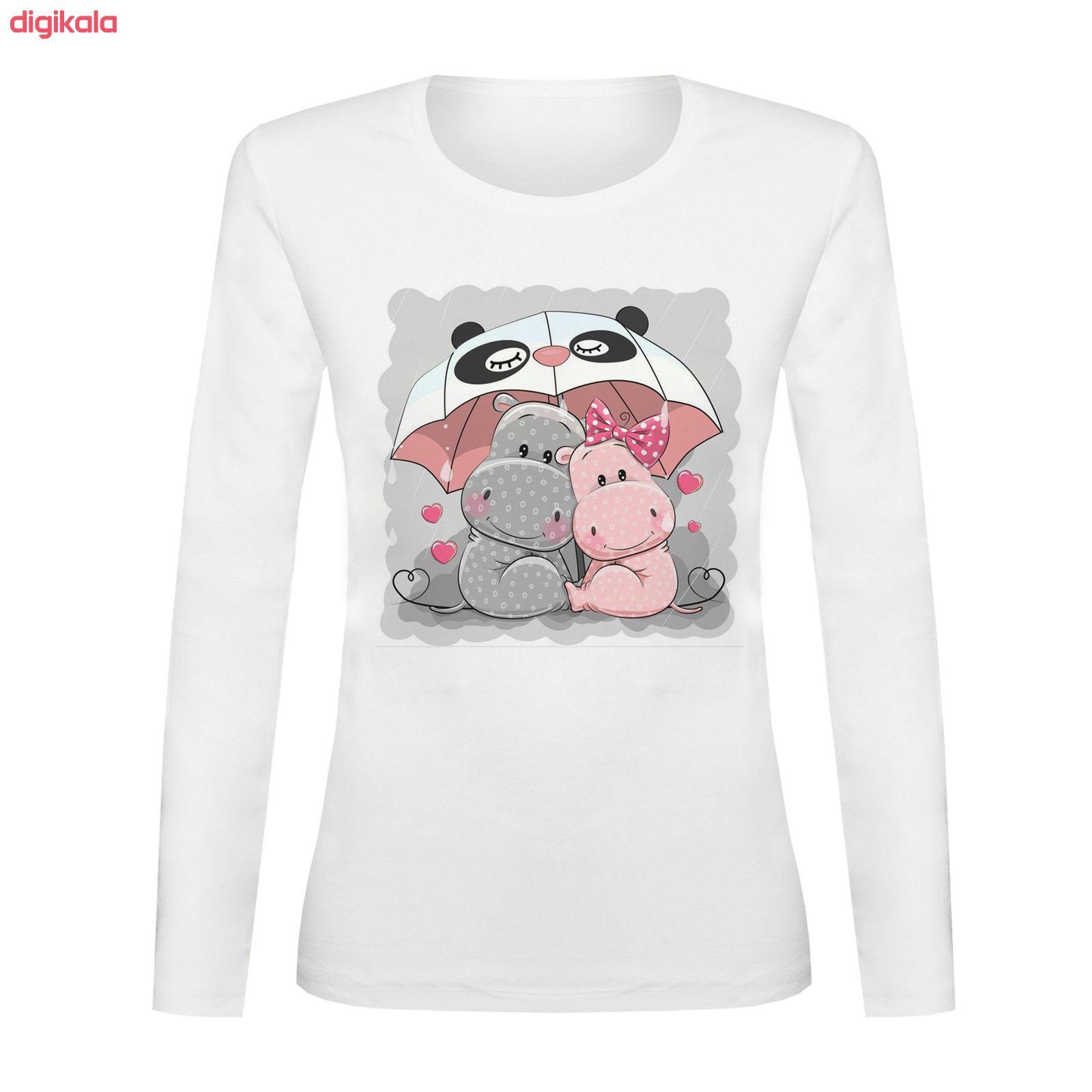 تی شرت آستین بلند زنانه کد TAB01-198